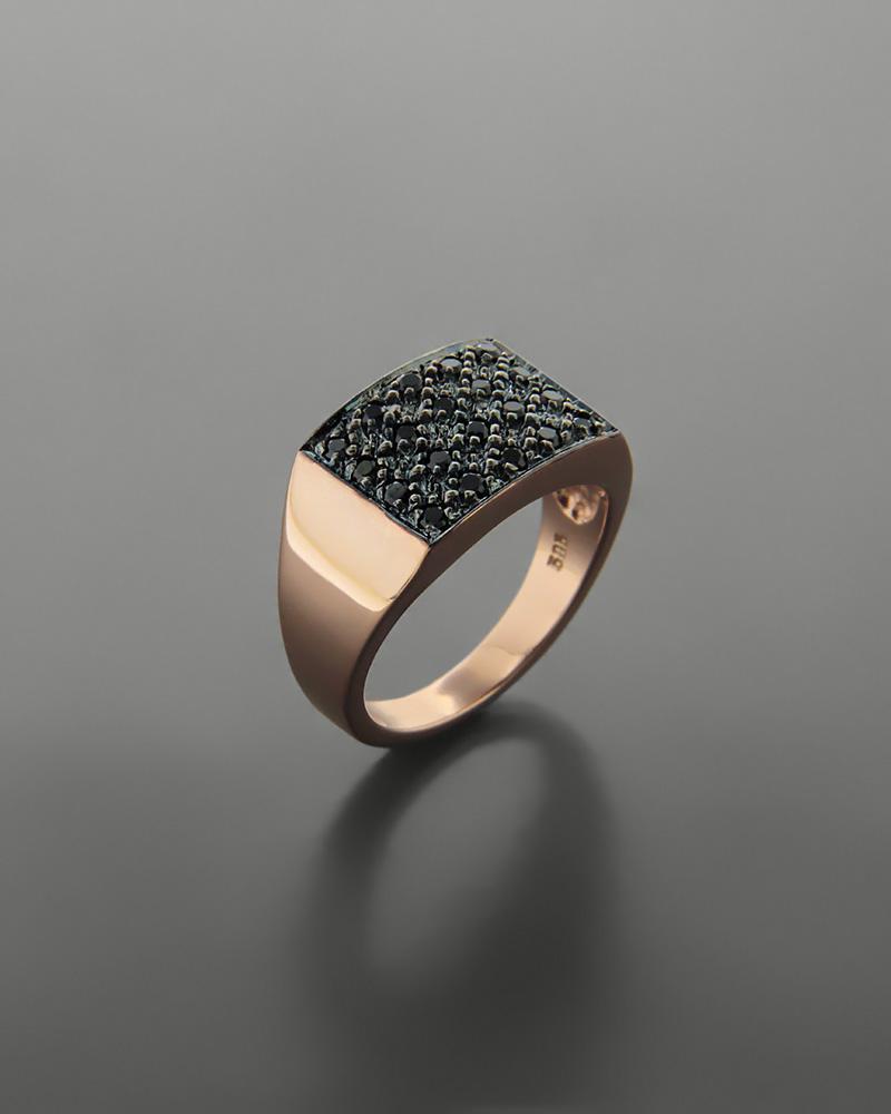 Δαχτυλίδι chevalier ροζ χρυσό Κ14 με ζιργκόν   νεεσ αφιξεισ κοσμήματα γυναικεία