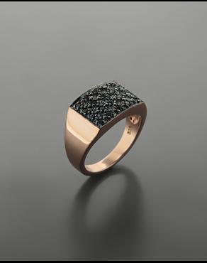 Δαχτυλίδι chevalier ροζ χρυσό Κ14 με ζιργκόν c65f44199ff