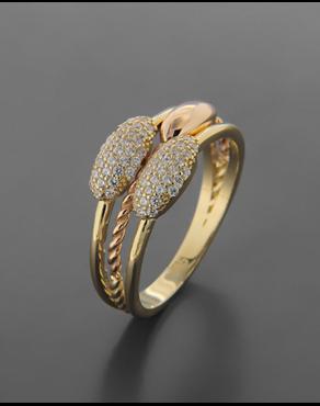 Δαχτυλίδι χρυσό   ροζ χρυσό Κ14 με Ζιργκόν d0ab8a9991f