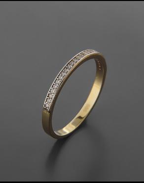Δαχτυλίδι σειρέ χρυσό και λευκόχρυσο Κ14 με ζιργκόν adab9be09a3