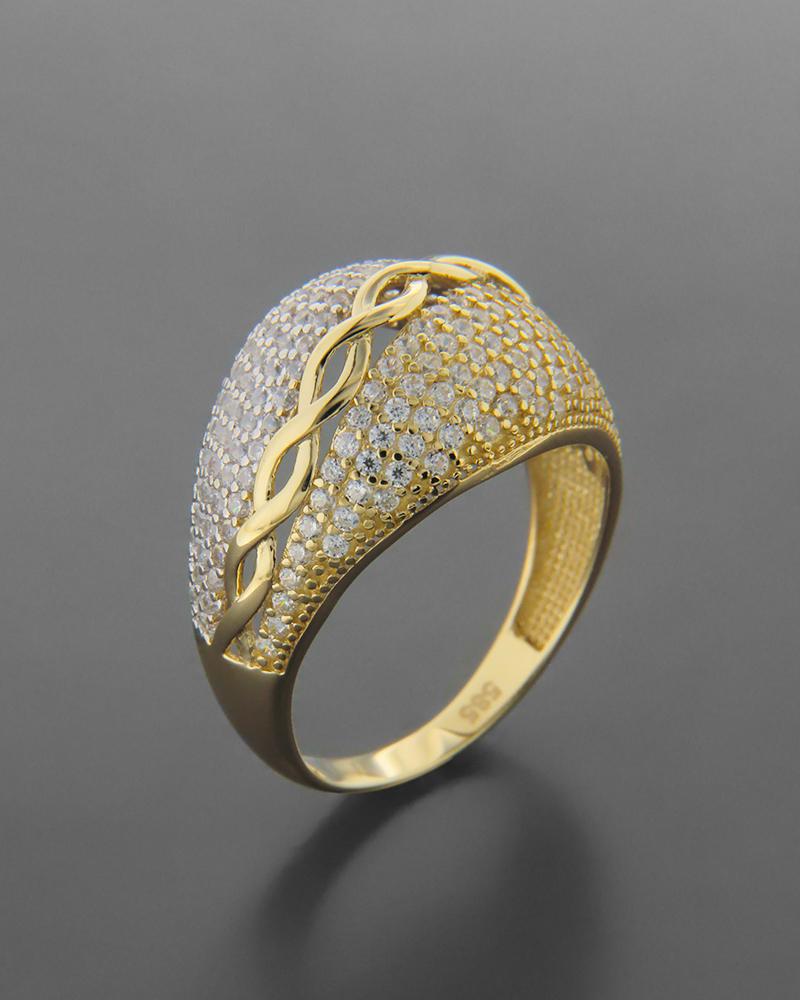 Δαχτυλίδι Χρυσό & λευκόχρυσο Κ14 με ζιργκόν   νεεσ αφιξεισ κοσμήματα γυναικεία