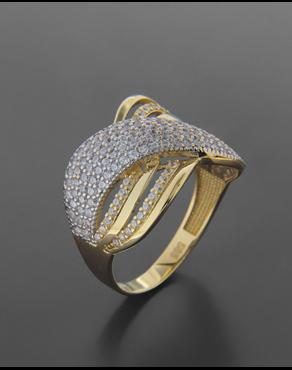 Δαχτυλίδι χρυσό και λευκόχρυσο Κ14 με ζιργκόν 6a8ce49d5b7
