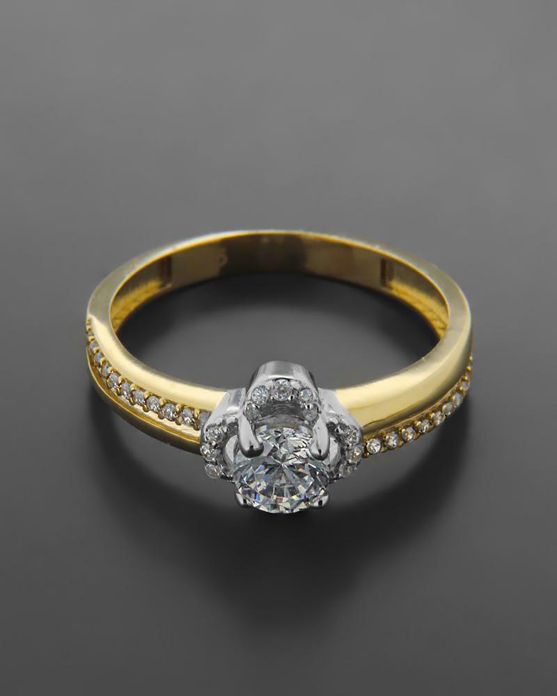 Δαχτυλίδι Μονόπετρο Με Ζιργκόν Κ14   κοσμηματα δαχτυλίδια μονόπετρα με ζιργκόν