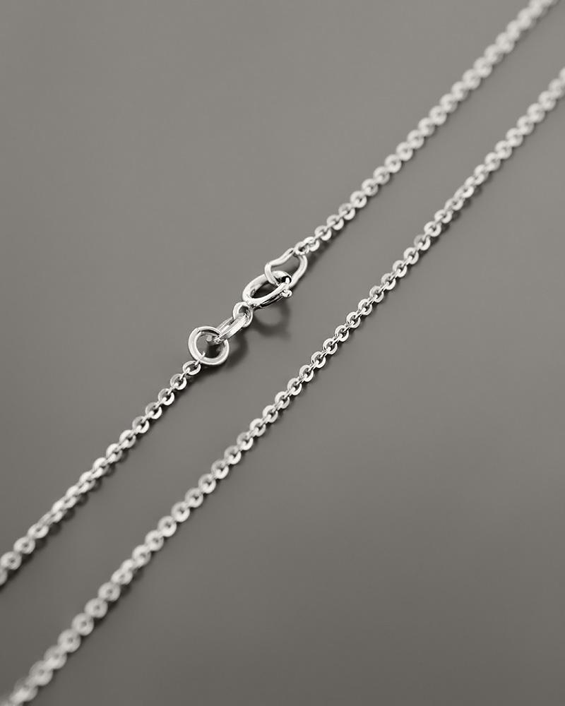 Αλυσίδα λαιμού λευκόχρυση Κ9 40,5 cm   παιδι αλυσίδες λαιμού αλυσίδες λευκόχρυσες