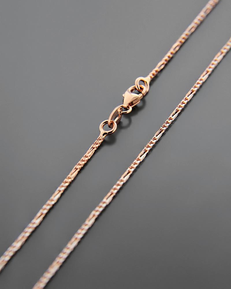 Αλυσίδα λαιμού ροζ χρυσή Κ14 45 cm   παιδι αλυσίδες λαιμού αλυσίδες ροζ χρυσό