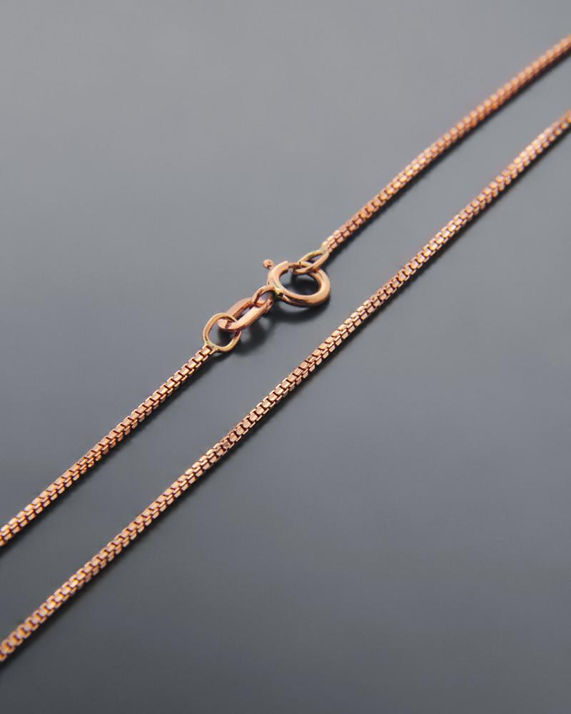 Αλυσίδα λαιμού ροζ χρυσή Κ14 45cm   παιδι αλυσίδες λαιμού αλυσίδες ροζ χρυσό
