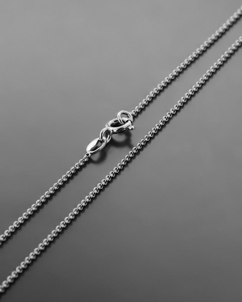Αλυσίδα Λαιμού Λευκόχρυσο Κ14 50cm   παιδι αλυσίδες λαιμού αλυσίδες λευκόχρυσες