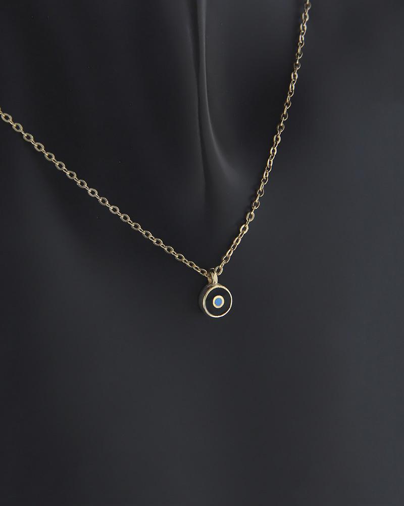 Κολιέ μάτι χρυσό Κ9 με σμάλτο   κοσμηματα κρεμαστά κολιέ κρεμαστά κολιέ χρυσά