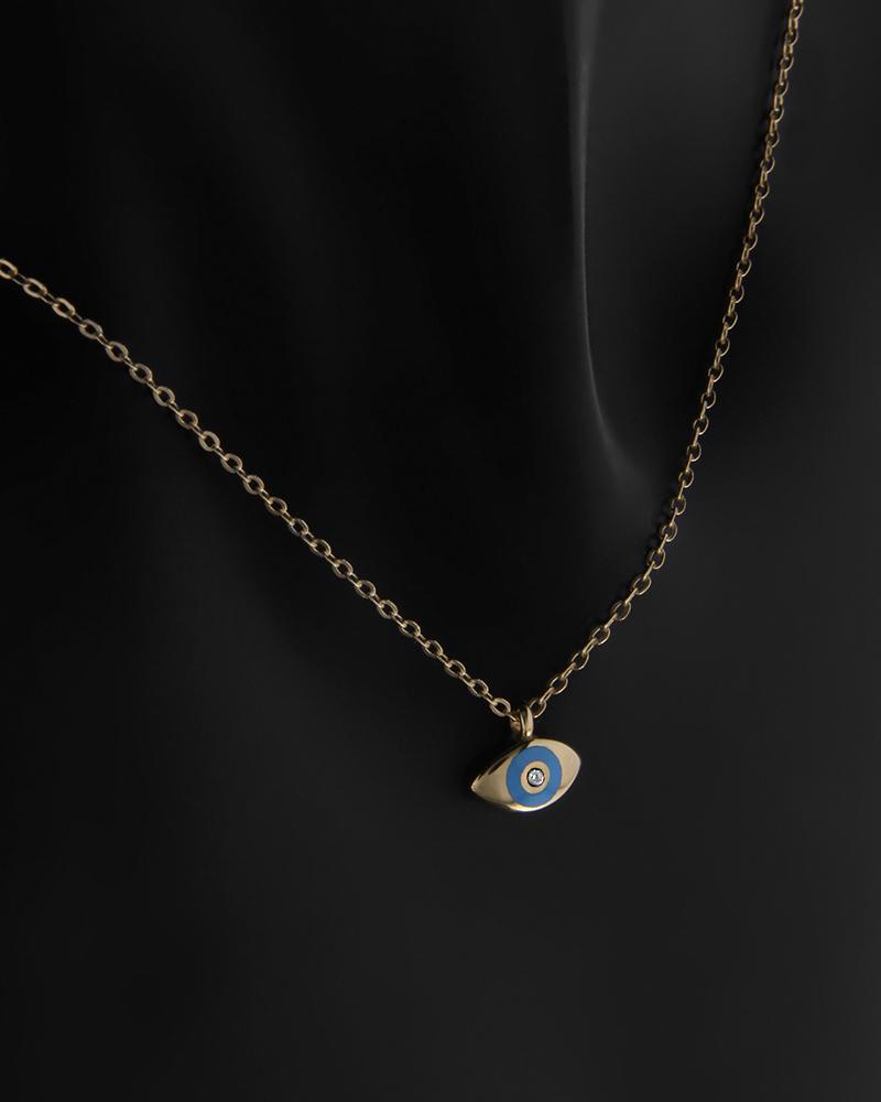 Κολιέ Κίτρινο Χρυσό Κ9 Μάτι Γαλάζιο   νεεσ αφιξεισ κοσμήματα παιδικά