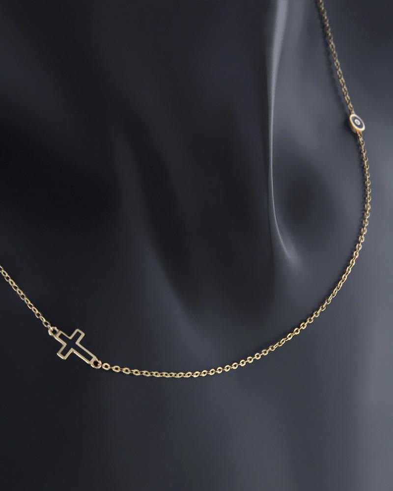 Κολιέ χρυσό Κ9 με σμάλτο   κοσμηματα κρεμαστά κολιέ κρεμαστά κολιέ χρυσά