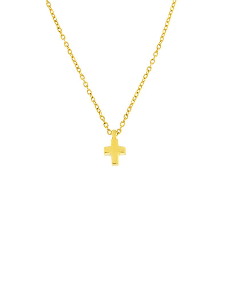 Κολιέ σταυρός χρυσό Κ9 με σμάλτο   κοσμηματα σταυροί με αλυσίδα