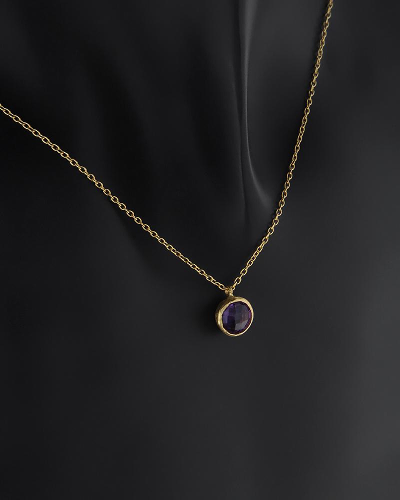 Κολιέ χρυσό Κ14 με ημιπολύτιμο λίθο   νεεσ αφιξεισ κοσμήματα γυναικεία