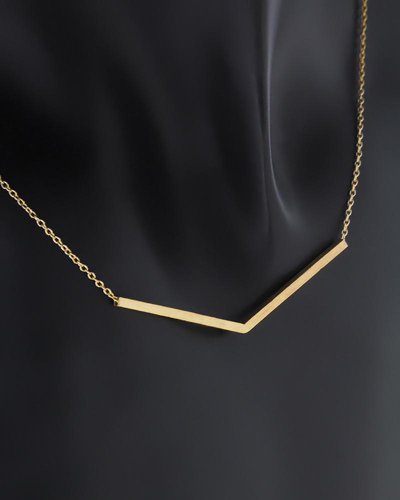 Κολιέ γωνία χρυσό Κ14   νεεσ αφιξεισ κοσμήματα γυναικεία