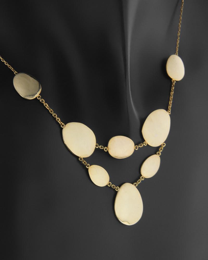 Κολιέ Κίτρινο Χρυσό Κ14   κοσμηματα κρεμαστά κολιέ κρεμαστά κολιέ χρυσά