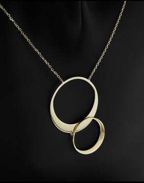 Κολιέ κύκλοι χρυσό Κ14 c10f1705b5d