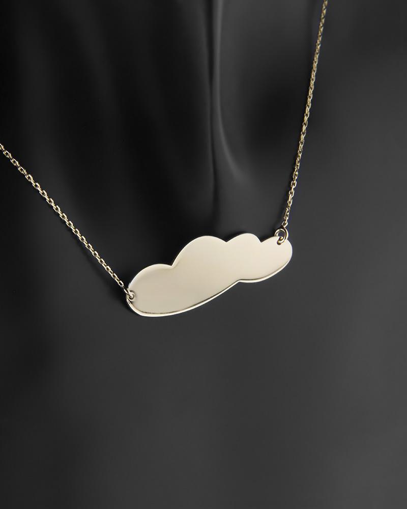 Κολιέ σύννεφο χρυσό Κ14   κοσμηματα κρεμαστά κολιέ κρεμαστά κολιέ χρυσά