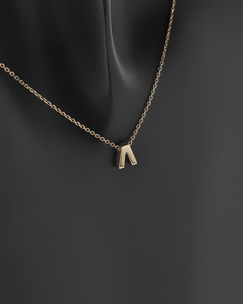 """Κολιέ μονόγραμμα """"Λ"""" χρυσό K9   κοσμηματα κρεμαστά κολιέ κρεμαστά κολιέ χρυσά"""