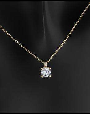 Κολιέ χρυσό Κ14 με πέτρα ζιργκόν 3c6915e70e5