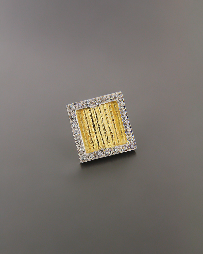 Μενταγιόν χρυσό & λευκόχρυσο Κ14 με ζιργκόν   γυναικα κρεμαστά κολιέ κρεμαστά κολιέ χρυσά