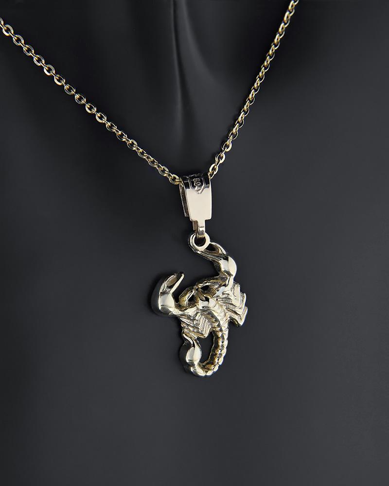 Μενταγιόν ζώδιο Σκορπιός χρυσό Κ14   κοσμηματα κρεμαστά κολιέ κρεμαστά κολιέ ζώδια