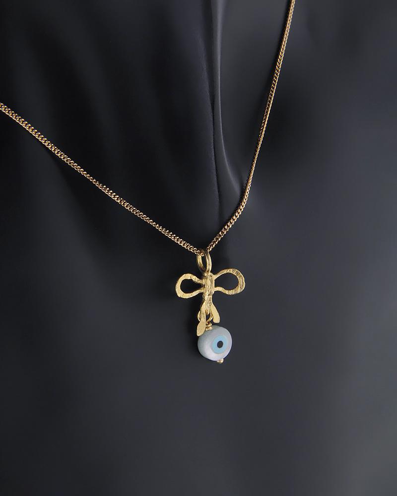 Κρεμαστό φιόγκος και ματάκι χρυσό Κ14   νεεσ αφιξεισ κοσμήματα γυναικεία