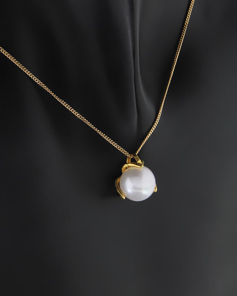 Κρεμαστό χρυσό Κ14 με πέρλα   νεεσ αφιξεισ κοσμήματα γυναικεία