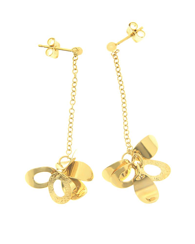 Σκουλαρίκια χρυσά Κ14