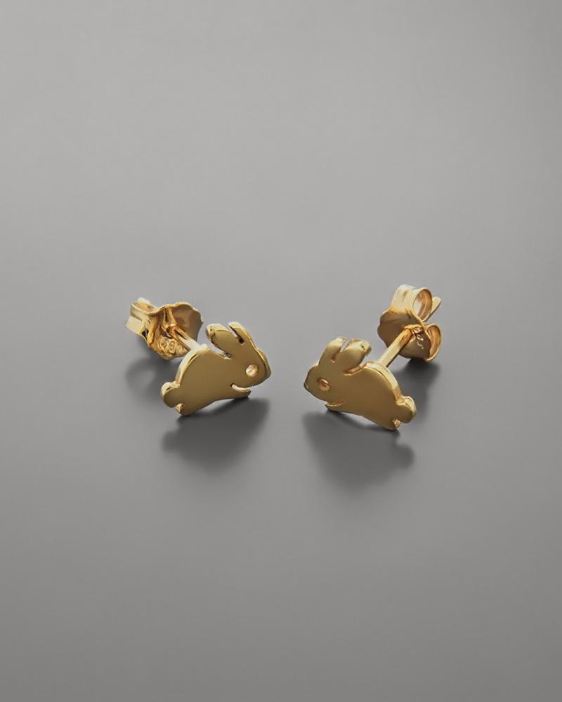 Σκουλαρίκια κουνελάκι παιδικά χρυσά Κ14   παιδι σκουλαρίκια παιδικά
