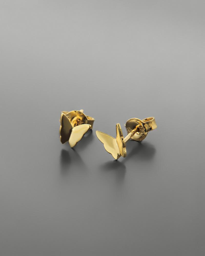 Σκουλαρίκια πεταλούδα χρυσά Κ14   παιδι σκουλαρίκια παιδικά