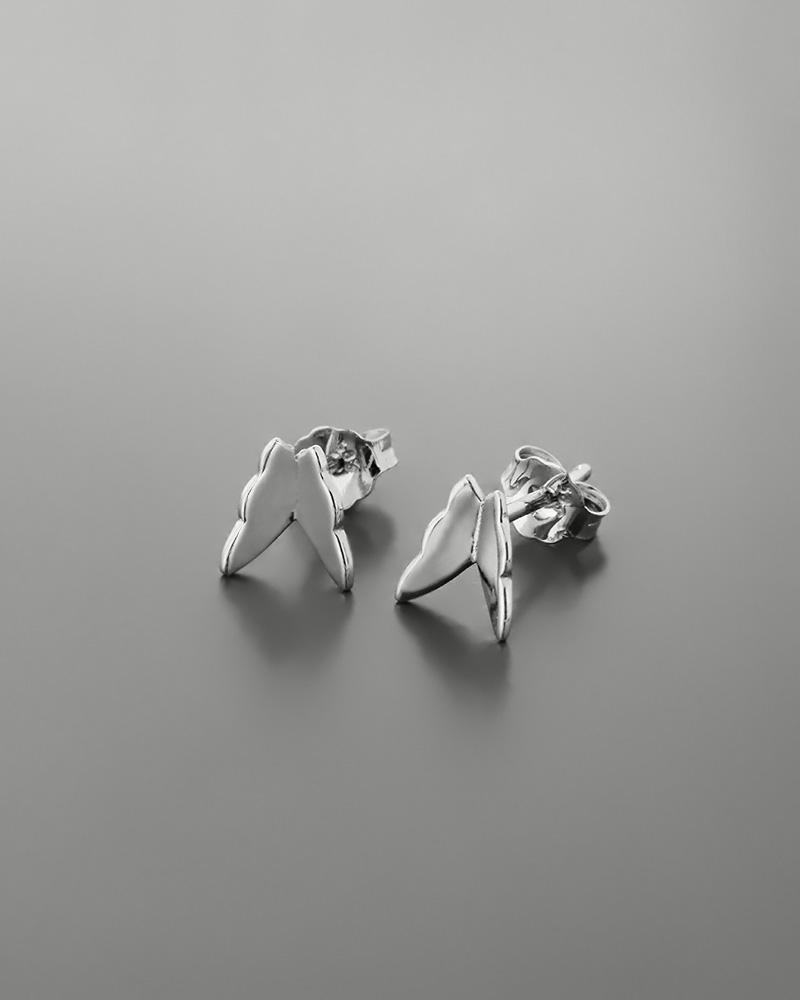 Σκουλαρίκια πεταλούδα λευκόχρυσα Κ14   παιδι σκουλαρίκια παιδικά
