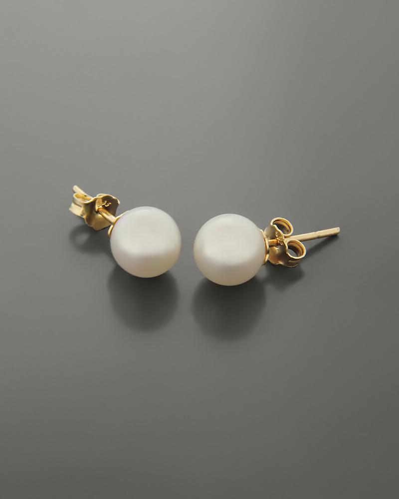 Σκουλαρίκια χρυσά Κ14 με μαργαριτάρι   κοσμηματα σκουλαρίκια σκουλαρίκια μαργαριτάρια