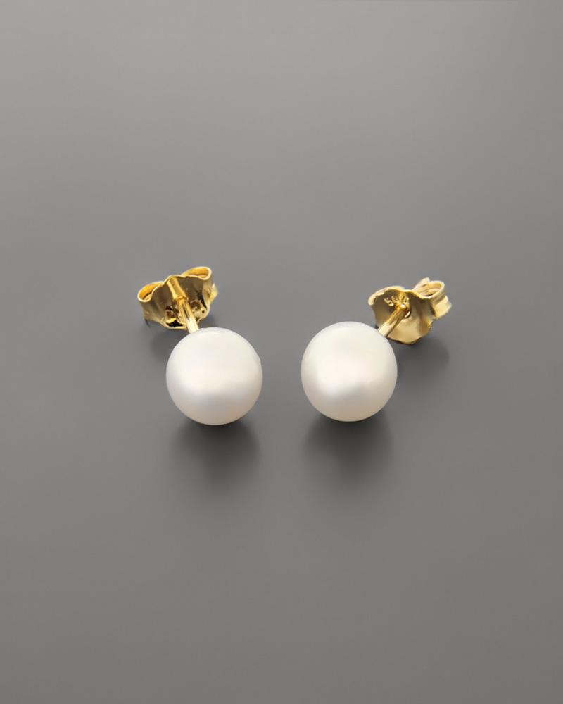 Σκουλαρίκια χρυσά Κ14 με μαργαριτάρια   γυναικα σκουλαρίκια σκουλαρίκια μαργαριτάρια