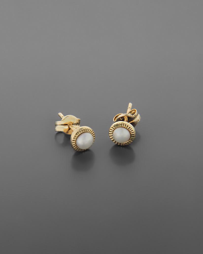 Σκουλαρίκια χρυσά Κ9 με μαργαριτάρια   κοσμηματα σκουλαρίκια σκουλαρίκια χρυσά