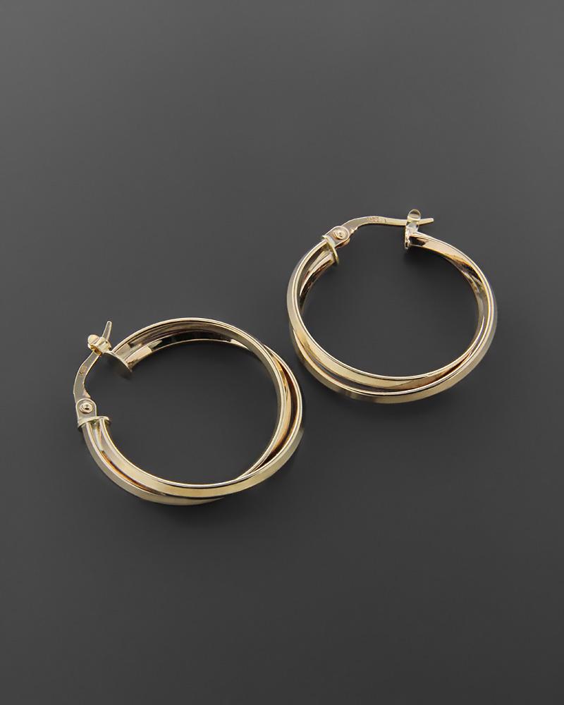 Σκουλαρίκια κρίκοι χρυσά Κ14  1f4f8de14c2