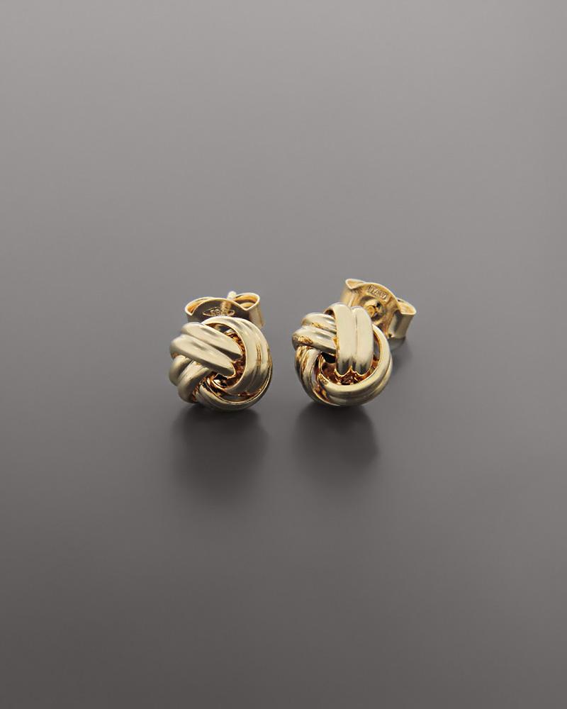 Σκουλαρίκια κόμπος χρυσά Κ14   νεεσ αφιξεισ κοσμήματα γυναικεία