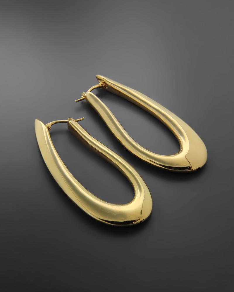 Σκουλαρίκια κρικοι από χρυσό Κ14   νεεσ αφιξεισ κοσμήματα γυναικεία