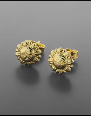 Σκουλαρίκια ήλιος χρυσά Κ14 ba48bb397eb