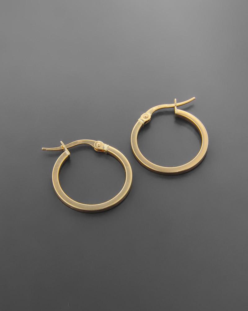 Σκουλαρίκια Κρίκοι Κίτρινο Κ9   γυναικα σκουλαρίκια σκουλαρίκια χρυσά