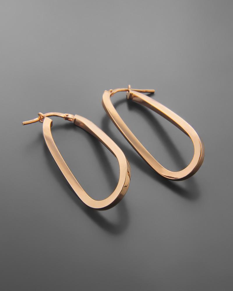 Σκουλαρίκια κρικοι από ροζ χρυσό Κ14   νεεσ αφιξεισ κοσμήματα γυναικεία
