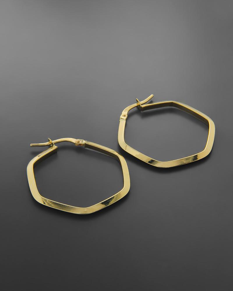 Σκουλαρίκια κρίκοι χρυσοί Κ14   νεεσ αφιξεισ κοσμήματα γυναικεία