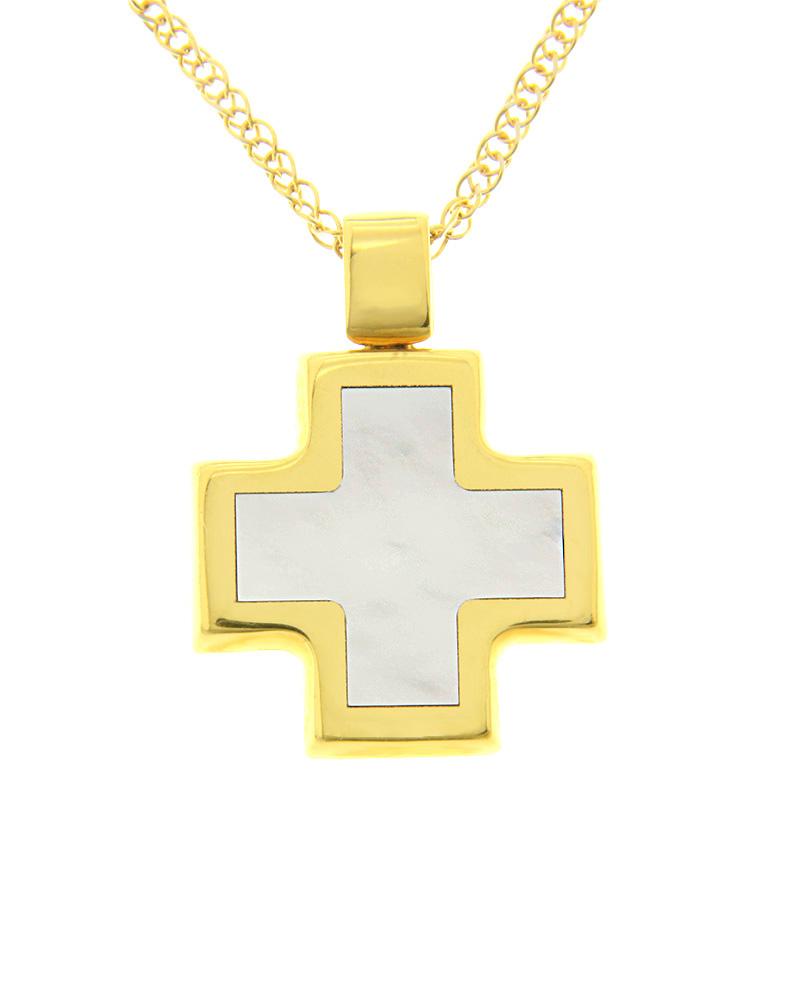 Σταυρός χρυσός Κ14 με Φίλντισι