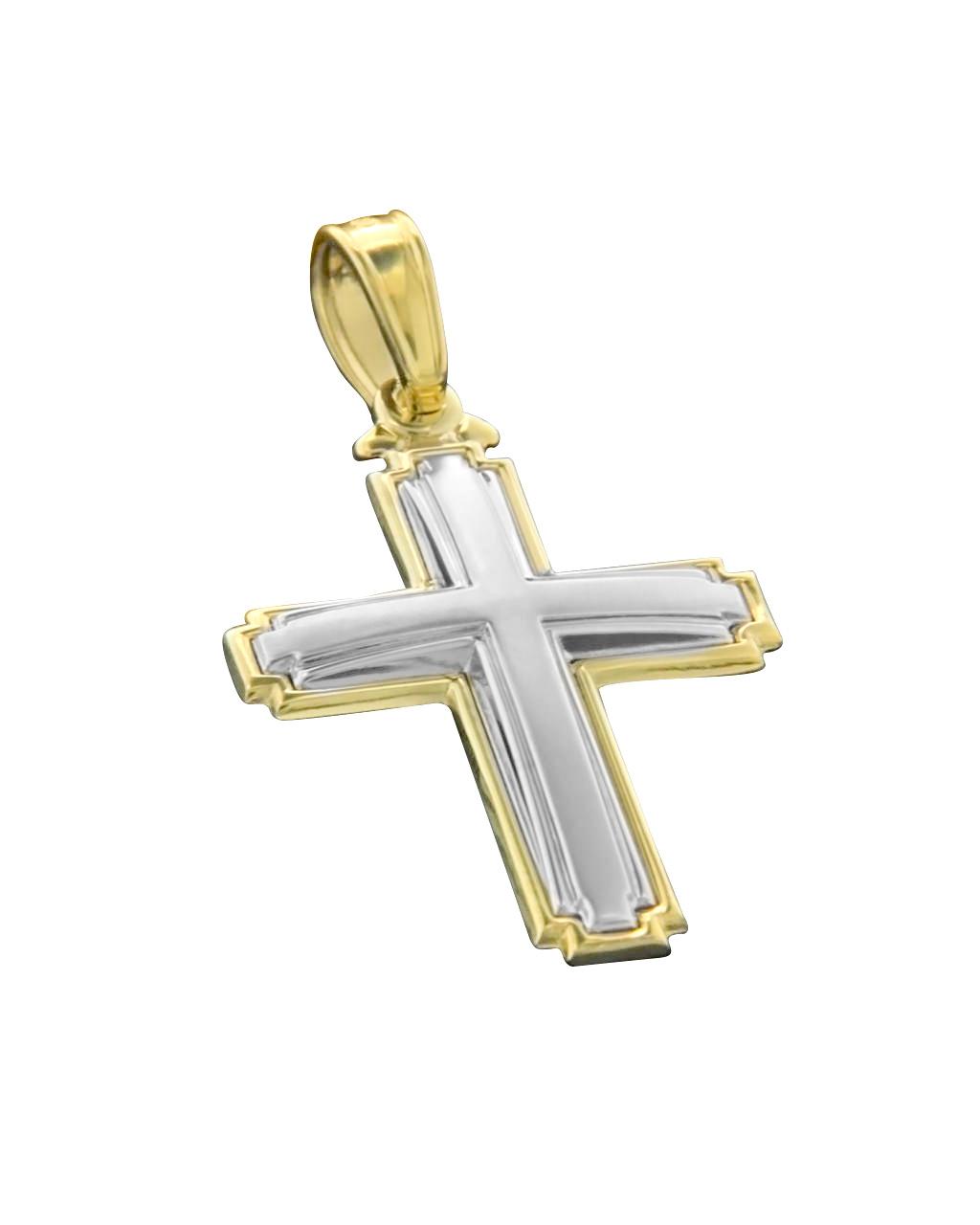 Σταυρός χρυσός & λευκόχρυσος Κ14   νεεσ αφιξεισ κοσμήματα παιδικά