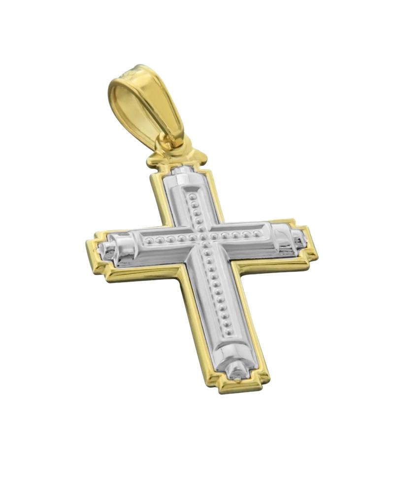 Σταυρός χρυσός& λευκόχρυσος Κ14   κοσμηματα σταυροί βαπτιστικοί σταυροί για αγόρι