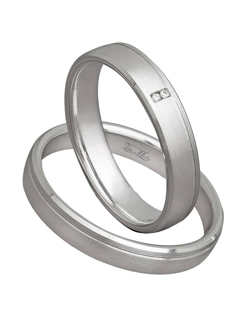 Βέρα χειροποίητη K14 λευκόχρυση XV00517   γαμοσ βέρες γάμου   αρραβώνα βέρες λευκόχρυσες