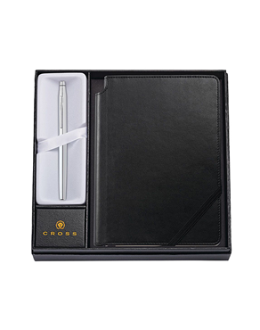 Cross Chrome Rollerball Pen with Black Journal AT0085-108/1M