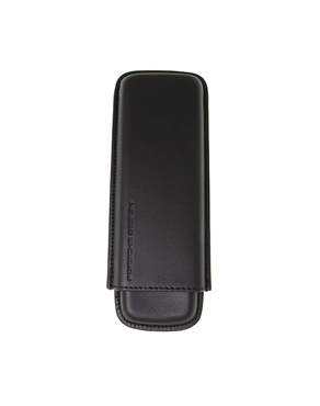 Porsche Design Black leather Cigar Case (2 cigars)-989483